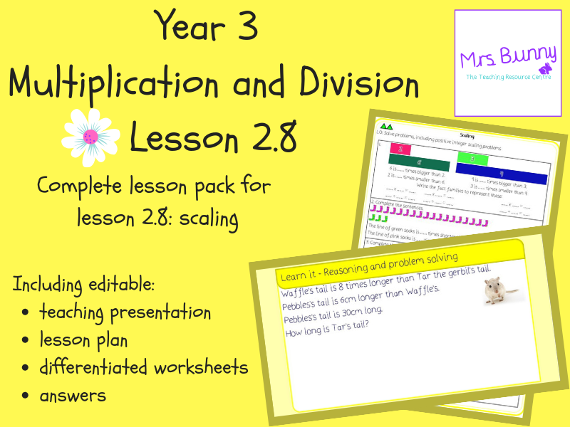 8. Multiplication and Division (2): scaling lesson pack (Y3)