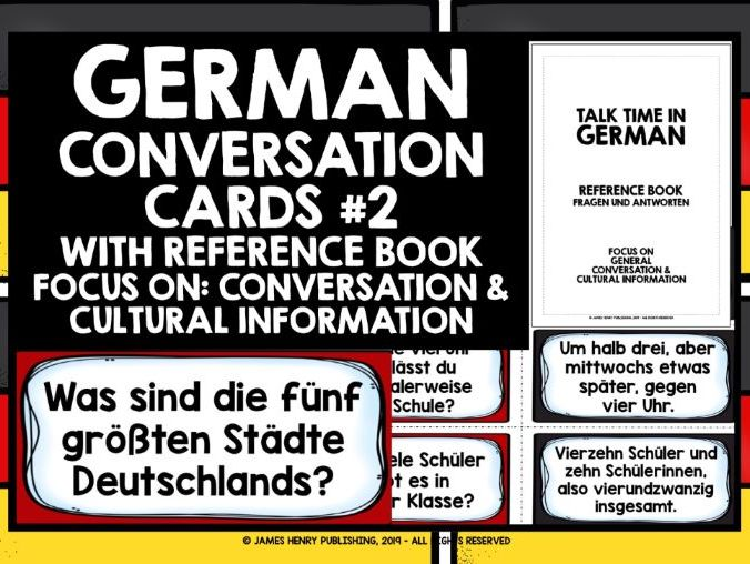 GERMAN CONVERSATION CARDS #2