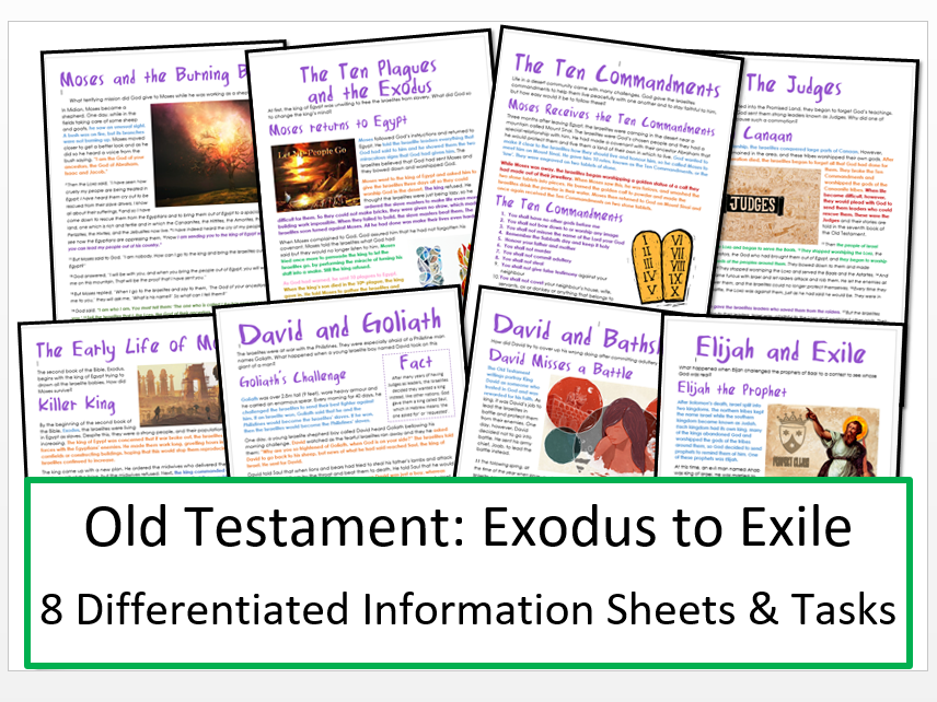Old Testament Stories: Exodus to Exile: Differentiated Information and Activity Bundle