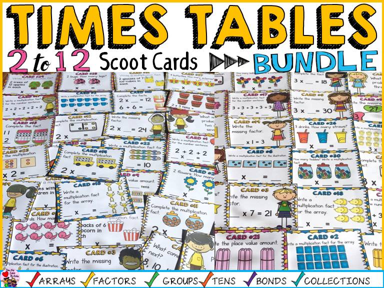 MULTIPLICATION: TIMES TABLES  BUNDLE