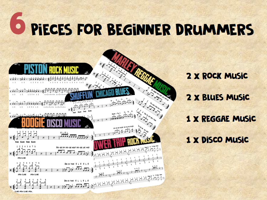 DRUM KIT | 6 short pieces for beginners