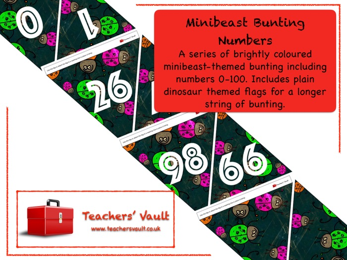 Minibeast Bunting Numbers