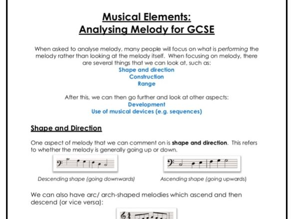 Analysing Melody for GCSE Music