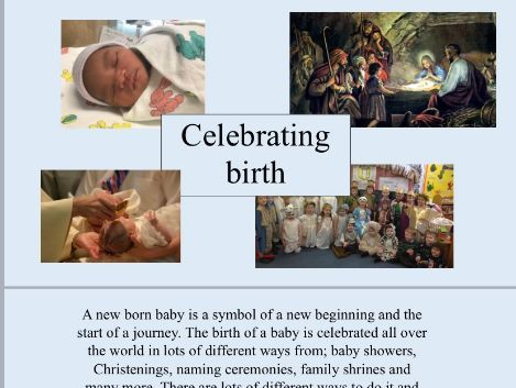 R.E. Celebrating Birth PowerPoint and Activity