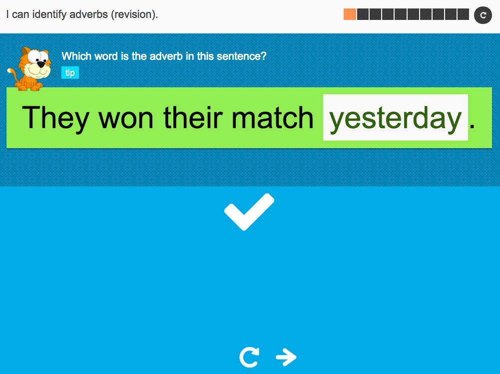 I can identify adverbs (revision) - Interactive Activity - Year 5 Spag
