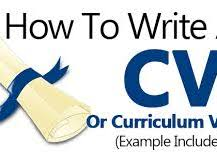 CV: Tips of Writing a Curriculum Vitae