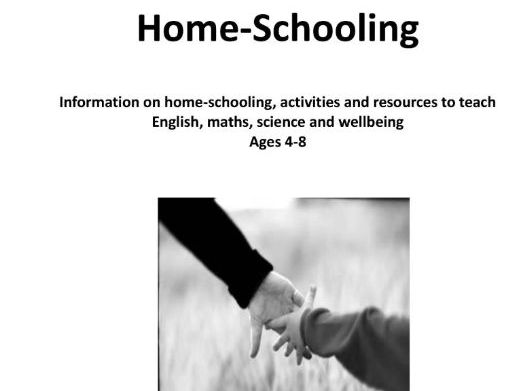 Home-schooling E-book. Information and resources for English, maths, science and wellbeing (ages 4-8