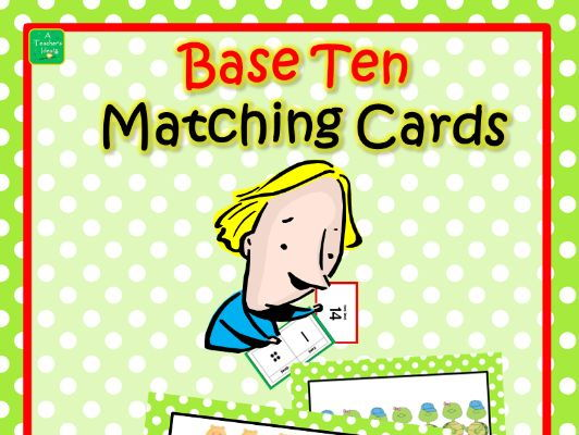 Place Value - Base Ten Matching Cards 0 to 100