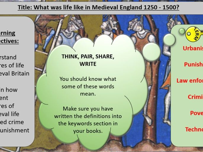 OCR J411 9-1 Crime and Punishment - Section 1: Medieval Britain 1250-1500