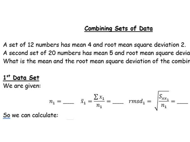 Combining 2 Sets of Data (mean and rmsd)