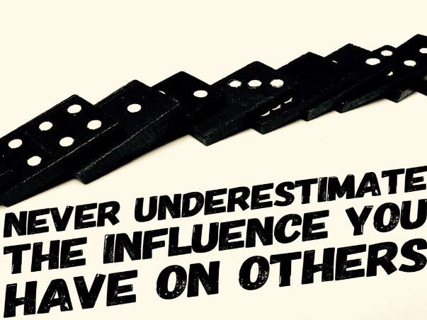 Influencing Others - positive and negative influence (ppt)