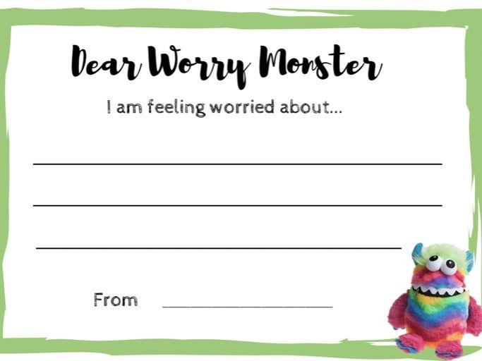 Dear Worry Monster (Write)