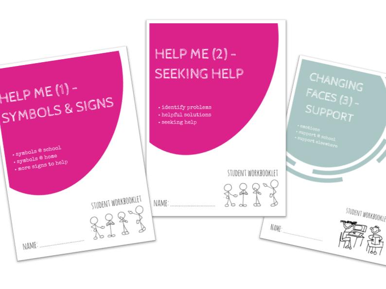 HELP ME bundle - x3 workbooklets SYMBOLS & SIGNS, SEEKING HLEP, SUPPORT FOR EMOTIONS