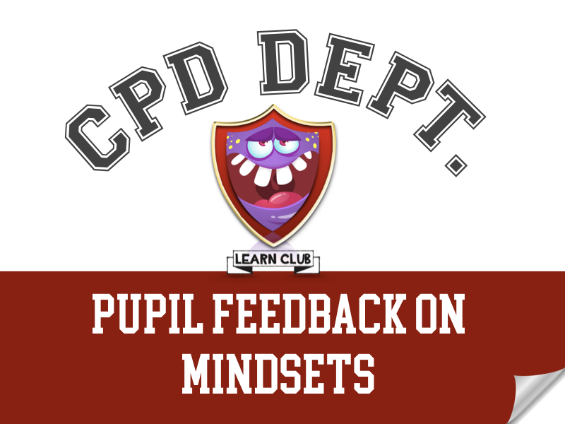 CPD - Pupil Feedback on Mindsets