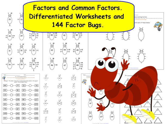 Ks2 Y5 Y6 Finding Factors And Common Factors
