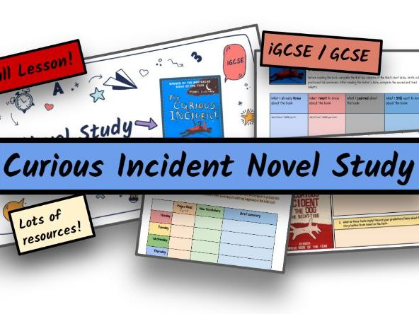 KS4 GCSE/iGCSE ENGLISH CURIOUS INCIDENT OF THE DOG IN THE NIGHT-TIME