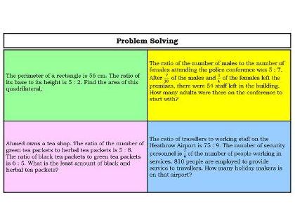 Ratio - word problem solving grid