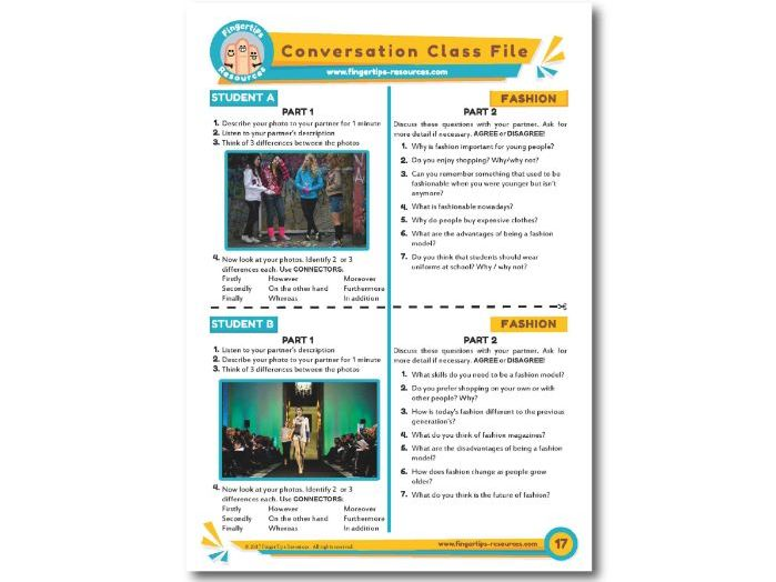 Fashion - ESL Conversation Activity