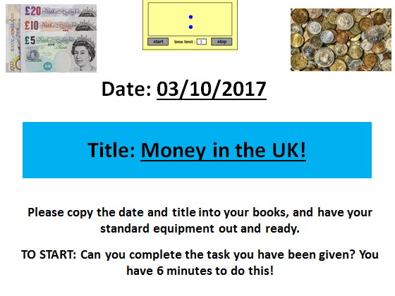 An introduction to Money! An EAL and Life Skills Lesson