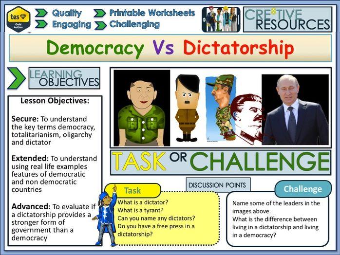 Democracy + Dictatorships
