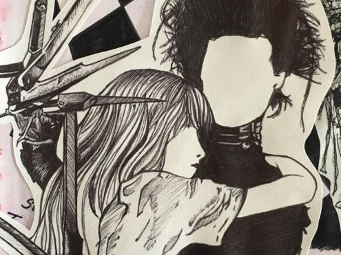 Tim Burton artist research page (KS4)