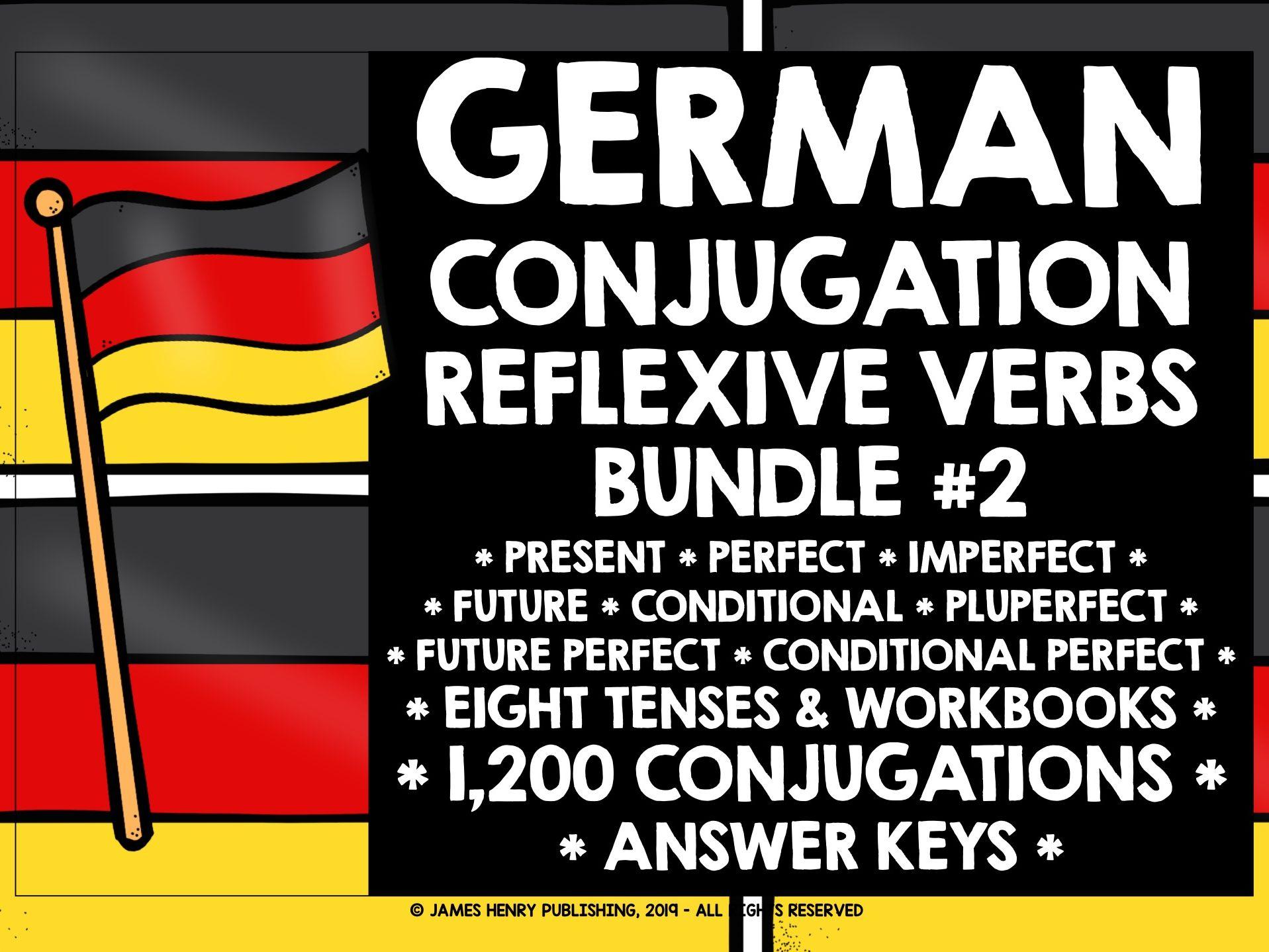 GERMAN REFLEXIVE VERBS CONJUGATION DRILLS BUNDLE #2