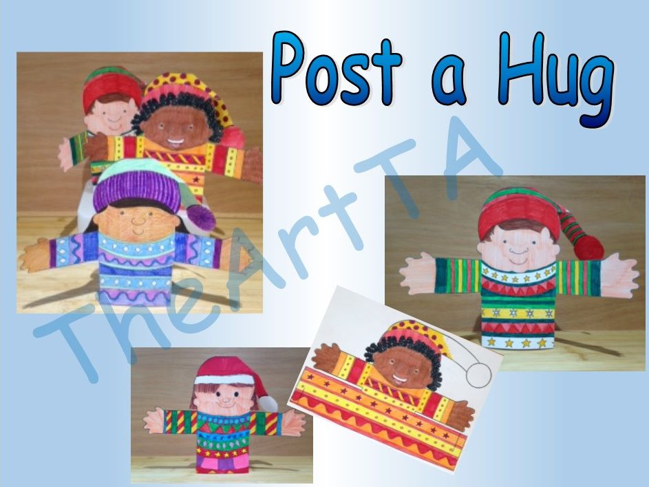 Christmas - 'Post a Hug' - Art Activity