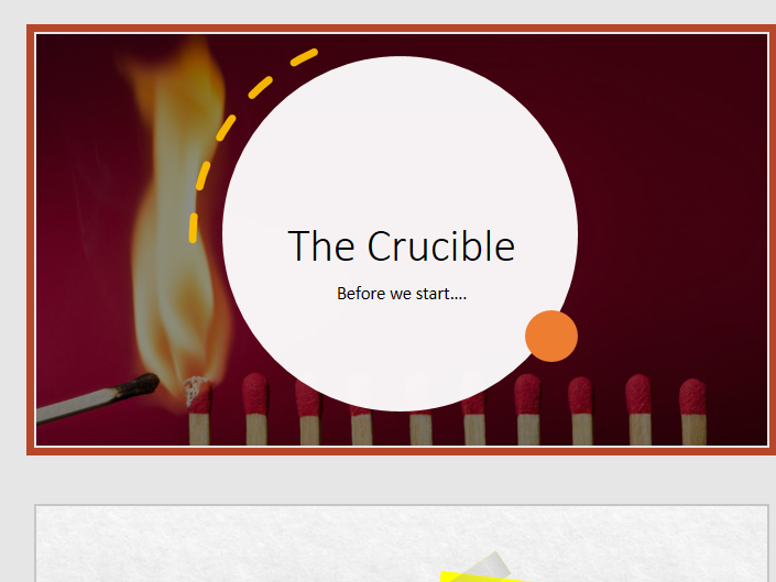 The Crucible SOW