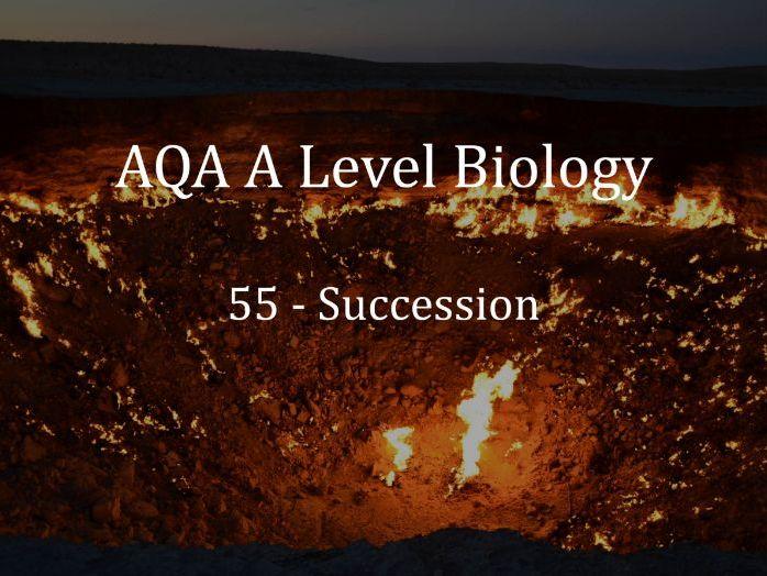 AQA A Level Biology Lecture 55 - Succession