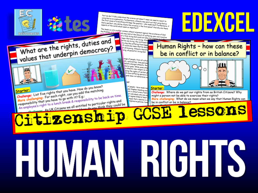 Edexcel Citizenship Human Rights