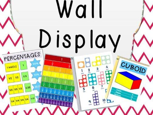 Maths Working Wall Display Pack 2019- Bar Model and Part Part whole included