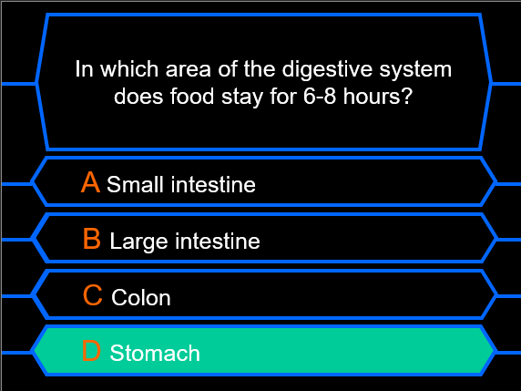 Millionaire Quiz! (Digestive System Edition)