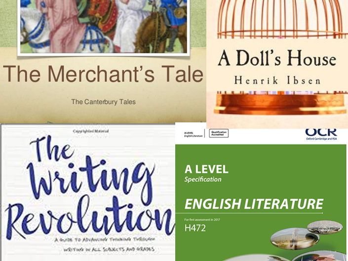 1 Sentence-level 'The Writing Revolution' exercises for The Merchant's Tale & A Doll's House A-level