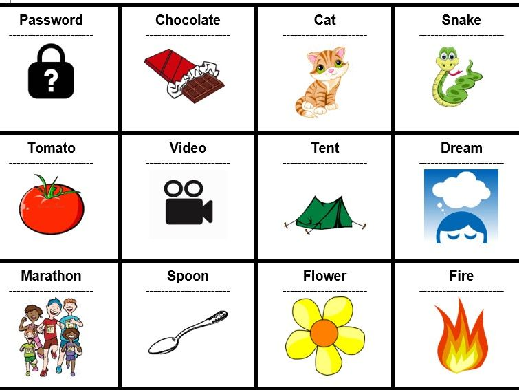 72 Simple English Word Cards