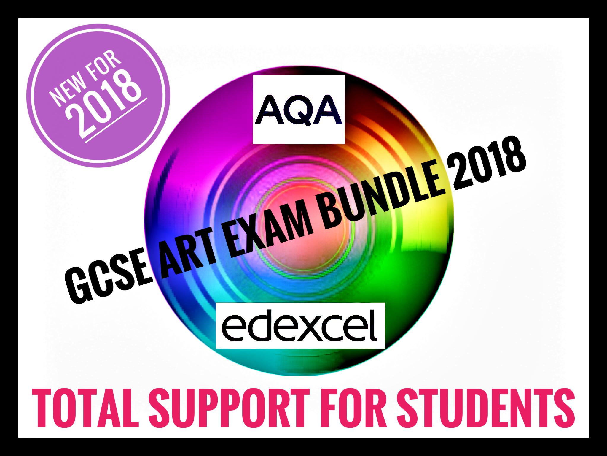 GCSE Art and Design Exam Bundle 2018.