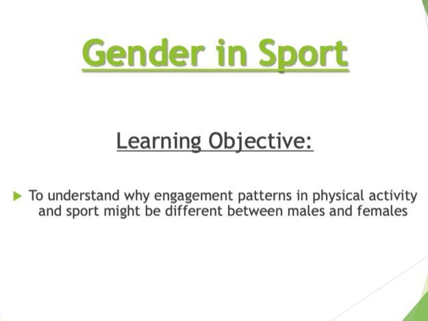 GCSE PE: Socio-Cultural Influences, Gender in Sport (Component 2)