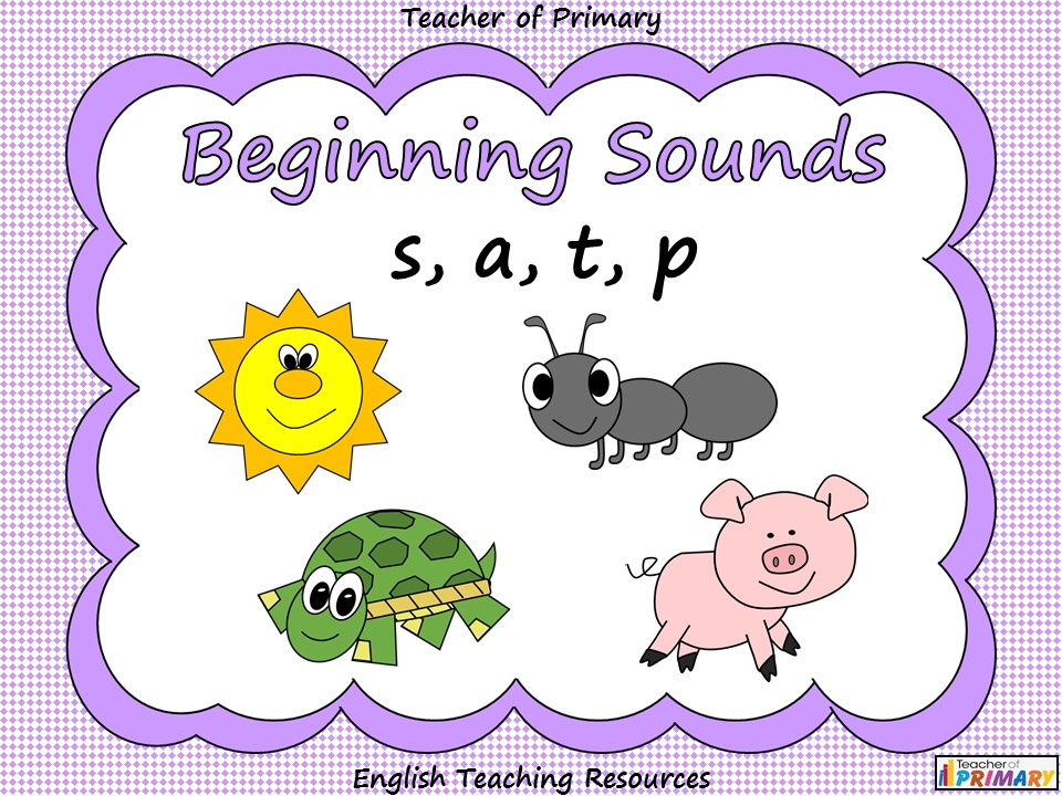 Beginning Sounds - s, a, t, p