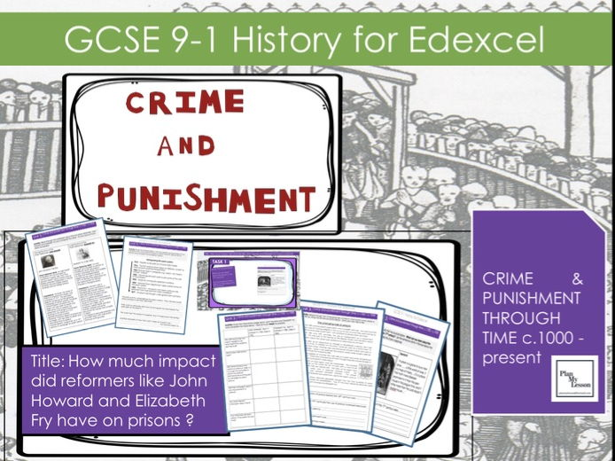 GCSE Crime L20: How much impact did reformers like John Howard and Elizabeth Fry have on prisons?