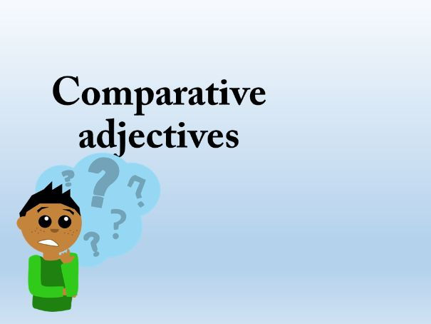 German Comparative adjectives
