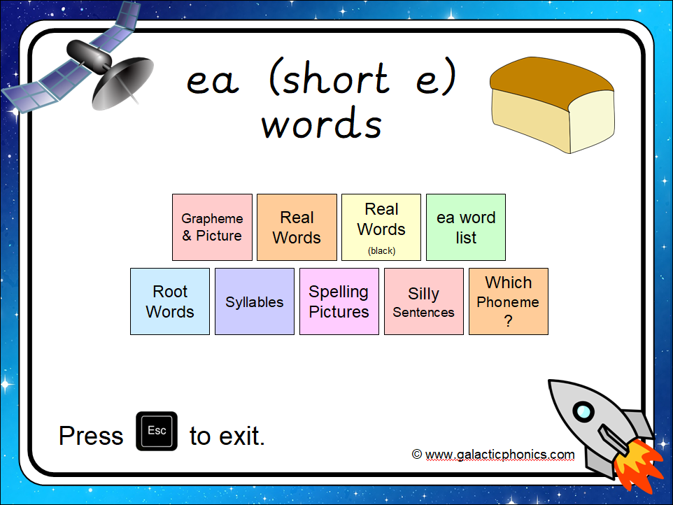 The 'ea' (as in bread) PowerPoint