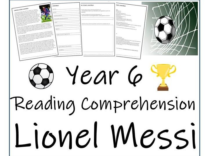 Lionel Messi Reading Comprehension Activity