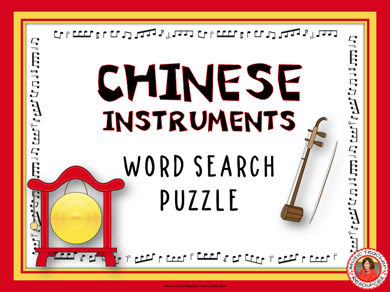 Chinese Instruments Word Search Puzzle