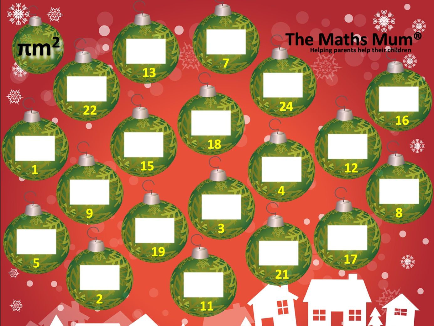Alternative MATHS Advent Calendars