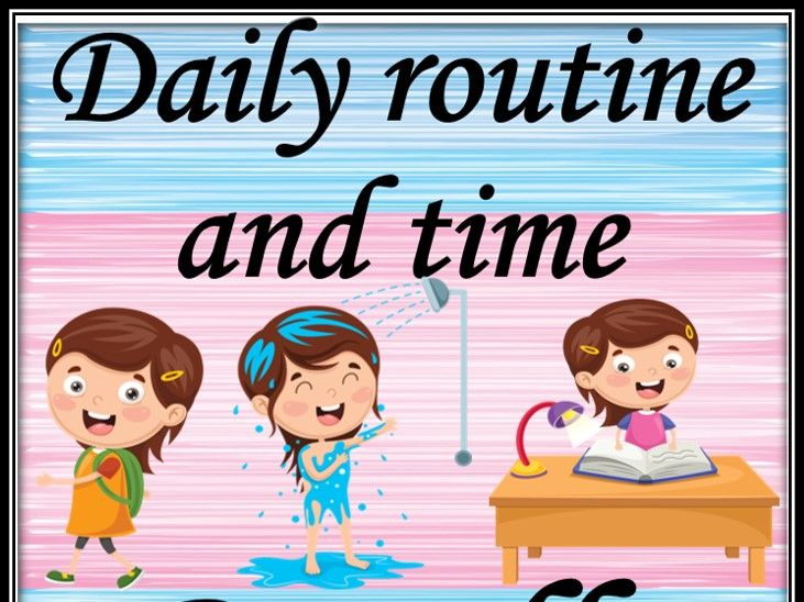 Daily routine and time. Bundle.