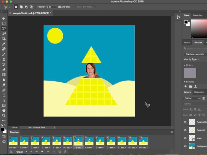 Adobe Photoshop CC: GIF Animation