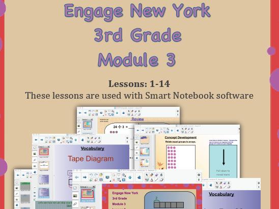 Engage New York (Eureka Math) 3rd Grade, Module 3 (SMART NOTEBOOK SOFTWARE)