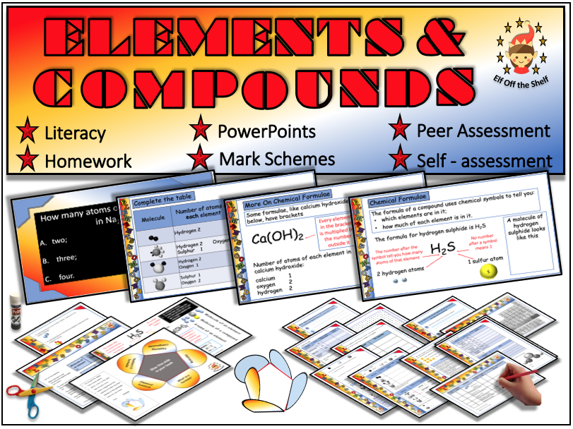 Elements, Compounds, Formulae and Naming Compounds Explained KS3