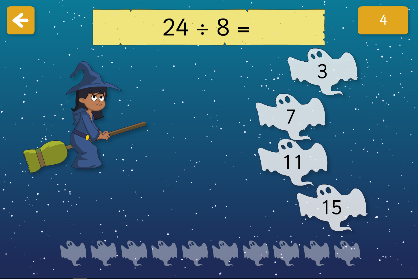 Spooky Maths Division - Interactive Activity - Halloween KS1