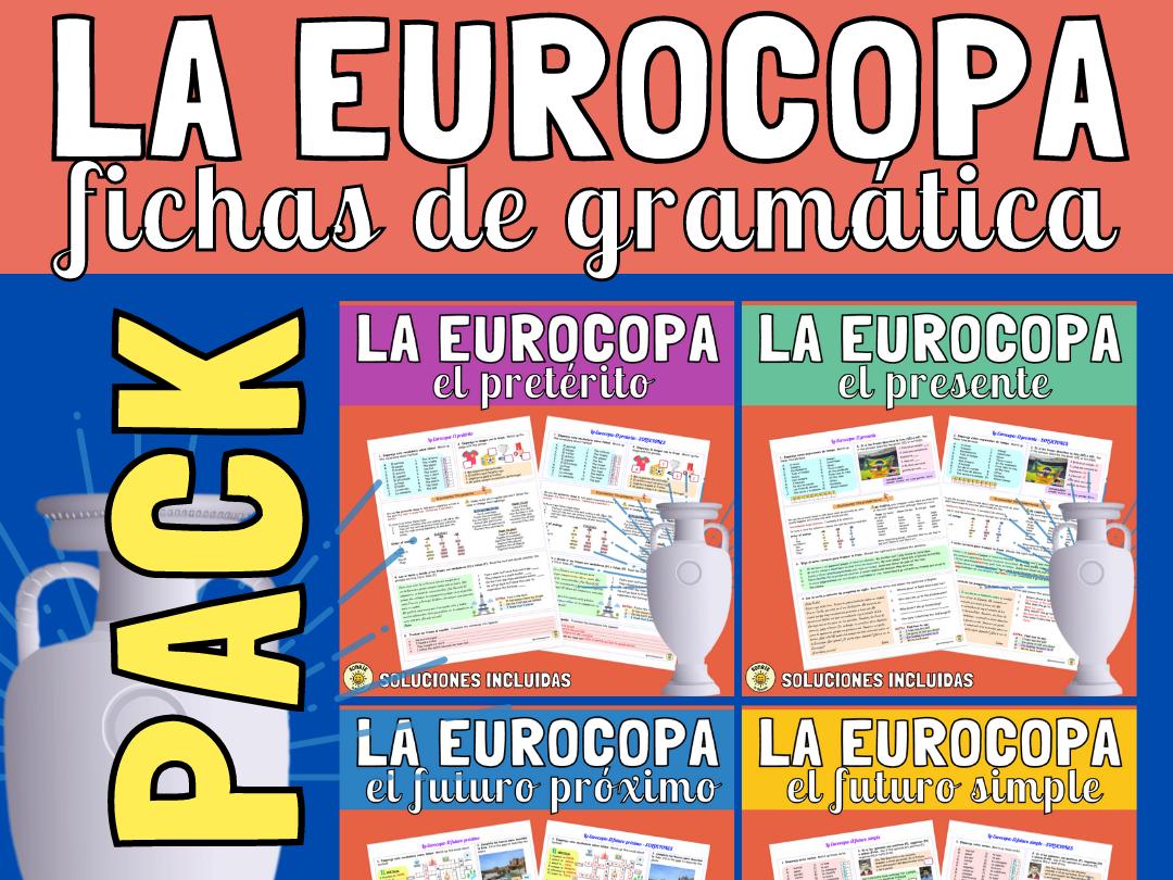 La Eurocopa - Grammar worksheets: pretérito, presente, futuro próximo y futuro simple. Fichas con soluciones