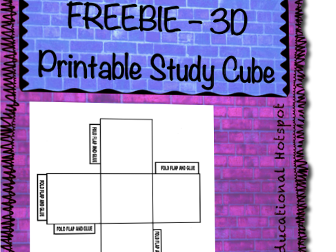 picture regarding Printable Cube called FREEBIE Printable 3D Analysis Dice via myeducationalhotspot